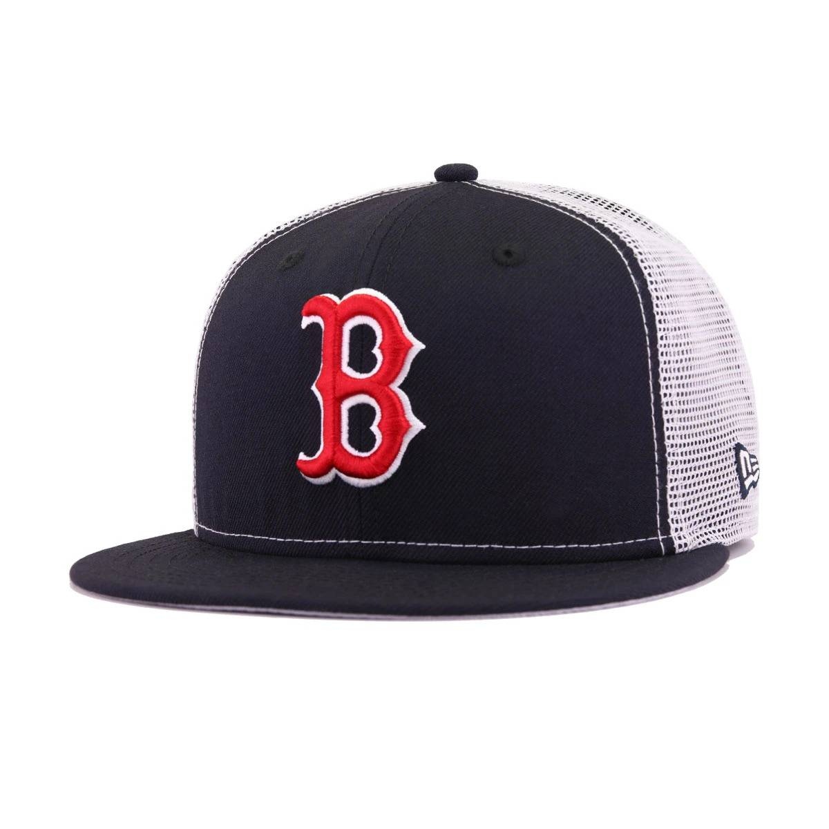 Boston Red Sox Navy White Trucker New Era 9Fifty Snapback 159bef510c8