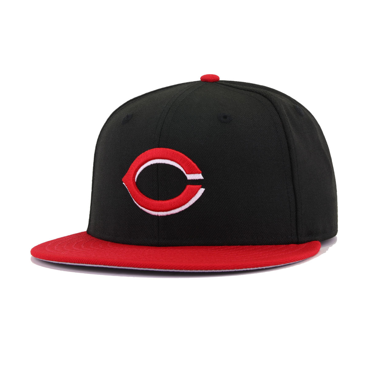 Cincinnati Reds Black Scarlet Alternate 2 Cooperstown New Era 59Fifty Fitted