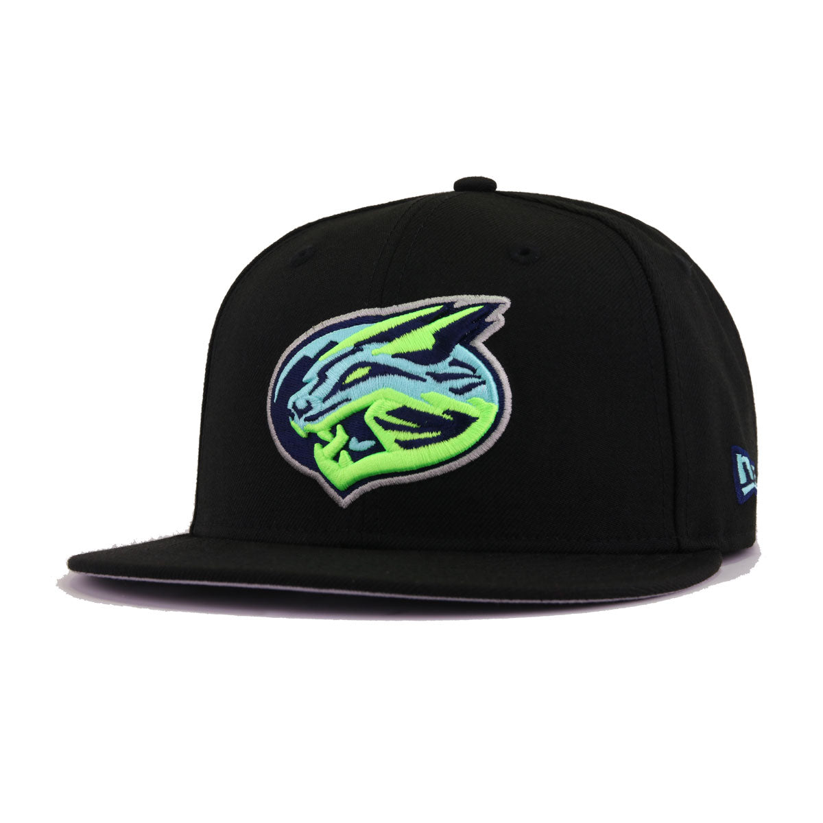 63fa645c5ab5d9 Lynchburg Hillcats Black Neon Green New Era 9Fifty Snapback