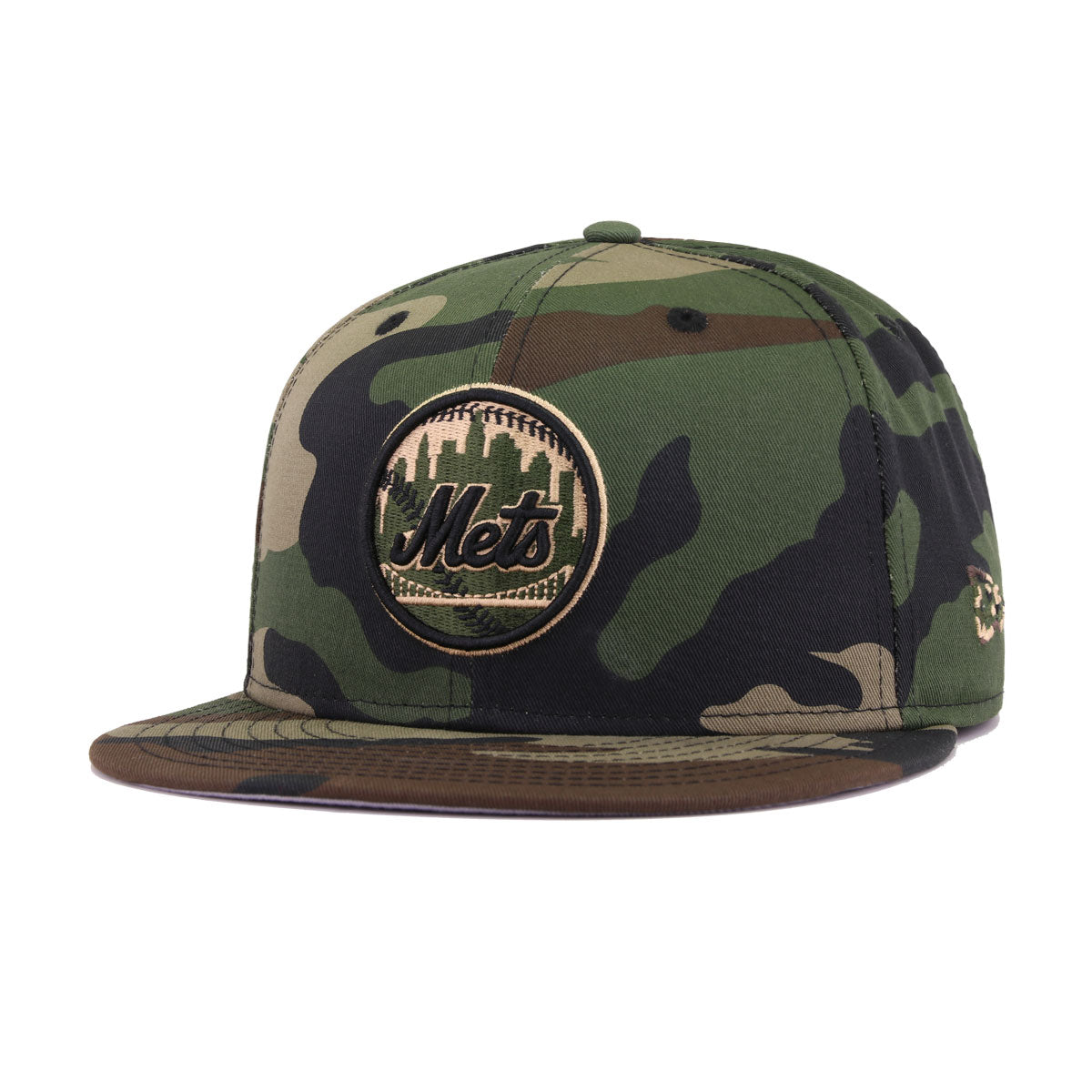 san francisco 599a3 80db0 New York Mets Woodland Camouflage 50th Anniversary New Era 9Fifty Snapback