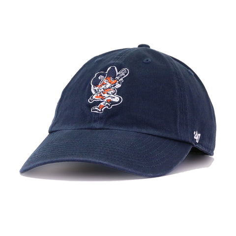 Detroit Tigers Navy Tiger 47 Brand Clean Up Dad Hat