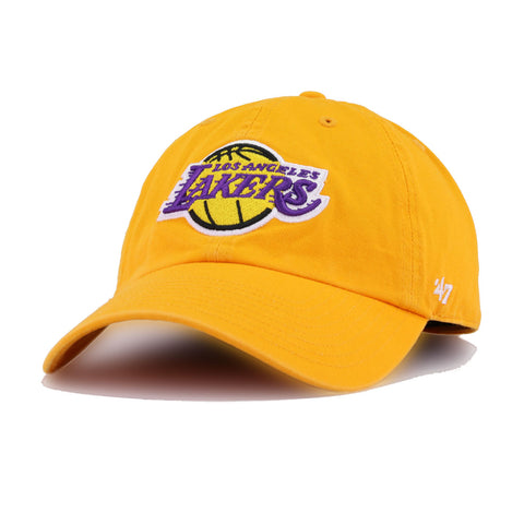Los Angeles Lakers A's Gold 47 Brand Clean Up Dad Hat