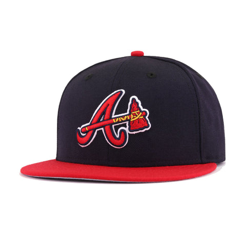 Atlanta Braves Navy Scarlet Tomahawk Cooperstown AC New Era 59Fifty Fitted