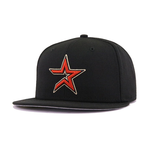 Houston Astros Black Cooperstown AC New Era 59Fifty Fitted