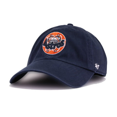 77c51b85e9e4b0 Houston Astros Navy Astrodome 47 Brand Clean Up Dad Hat