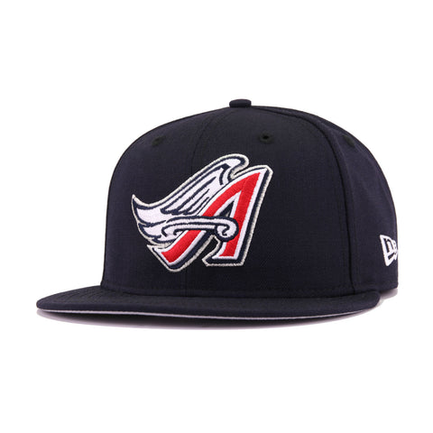 Los Angeles Angels Navy Cooperstown New Era 59Fifty Fitted
