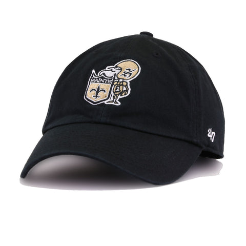 New Orleans Saints Legacy Black 47 Brand Clean Up Dad Hat