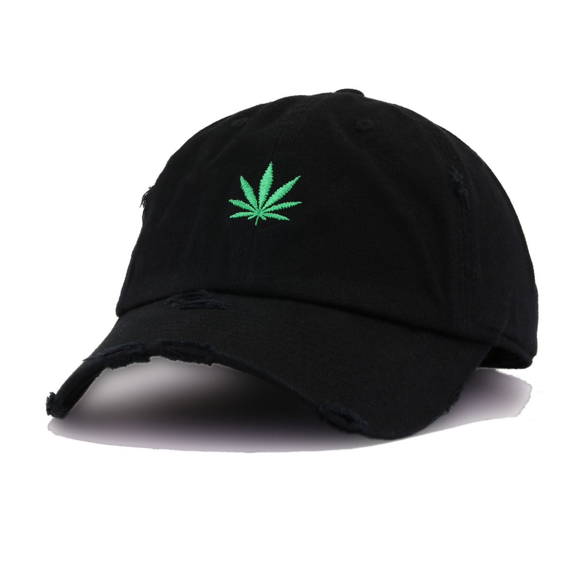 Distressed Leaf Black KBEthos Vintage Dad Hat