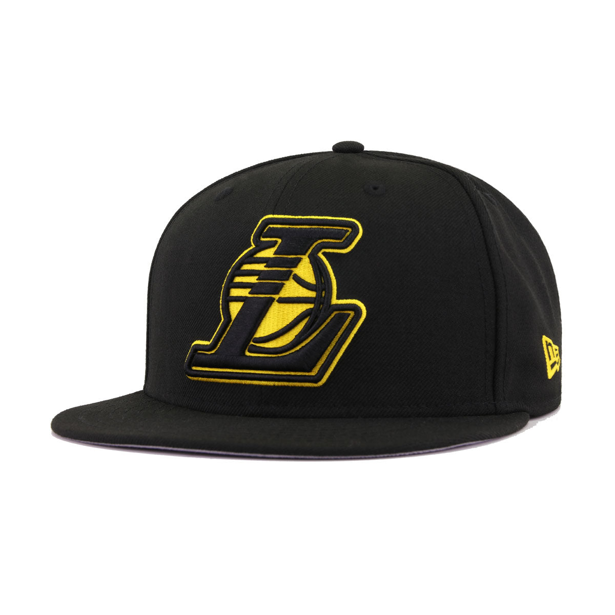 Los Angeles Lakers Black Alternate New Era 9Fifty Snapback
