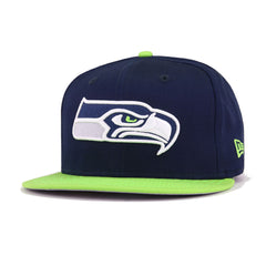 Seattle Seahawks Oceanside Blue Cyber Green New Era 9Fifty Snapback