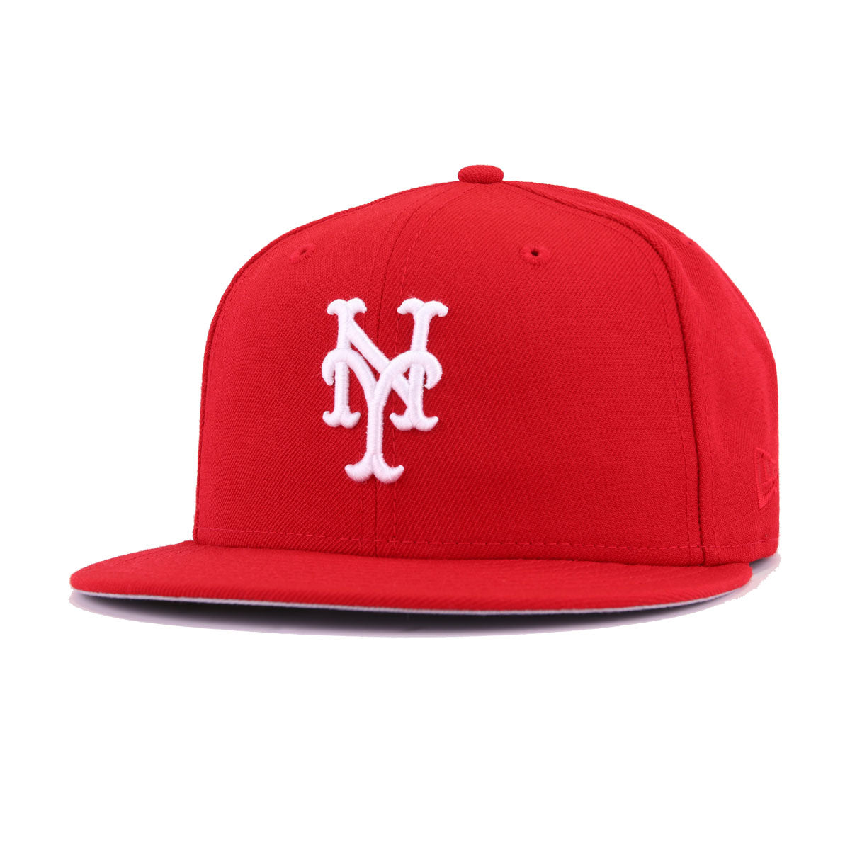 New York Mets Scarlet White New Era 59Fifty Fitted