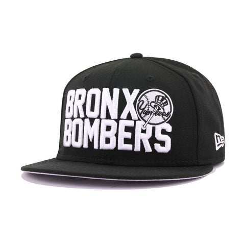 New York Yankees Black Bronx Bombers New Era 9Fifty Snapback