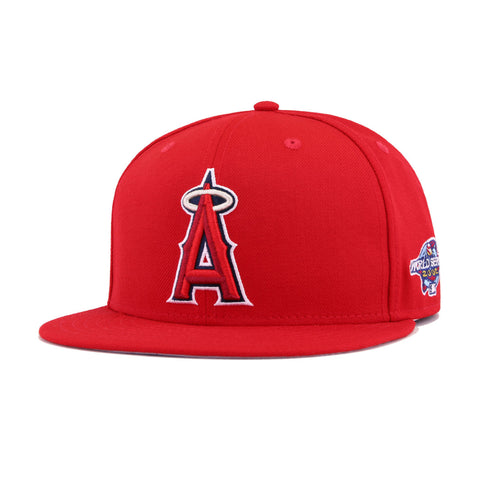 Los Angeles Angels Scarlet 2002 World Series New Era 59Fifty Fitted