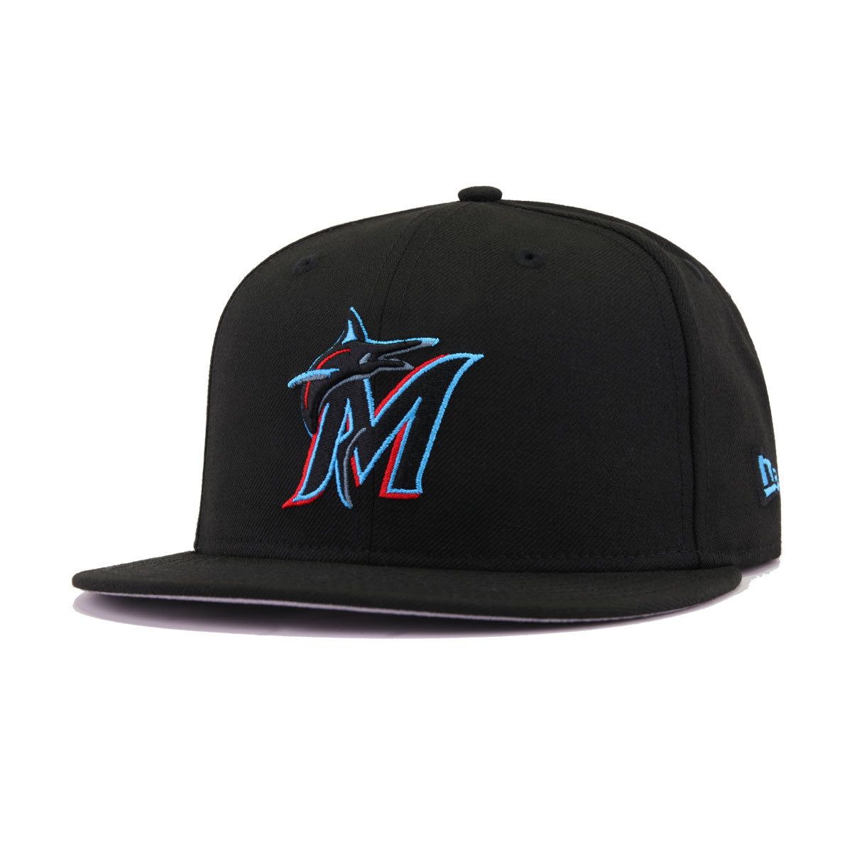 Miami Marlins Black California Blue Front Door Red New Era 9Fifty Snapback