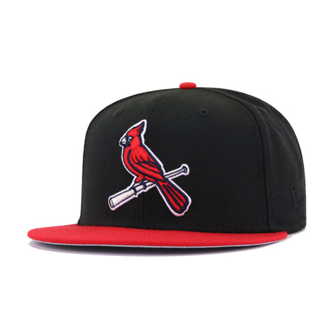 St Louis Cardinals Black Scarlet New Era 59Fifty Fitted