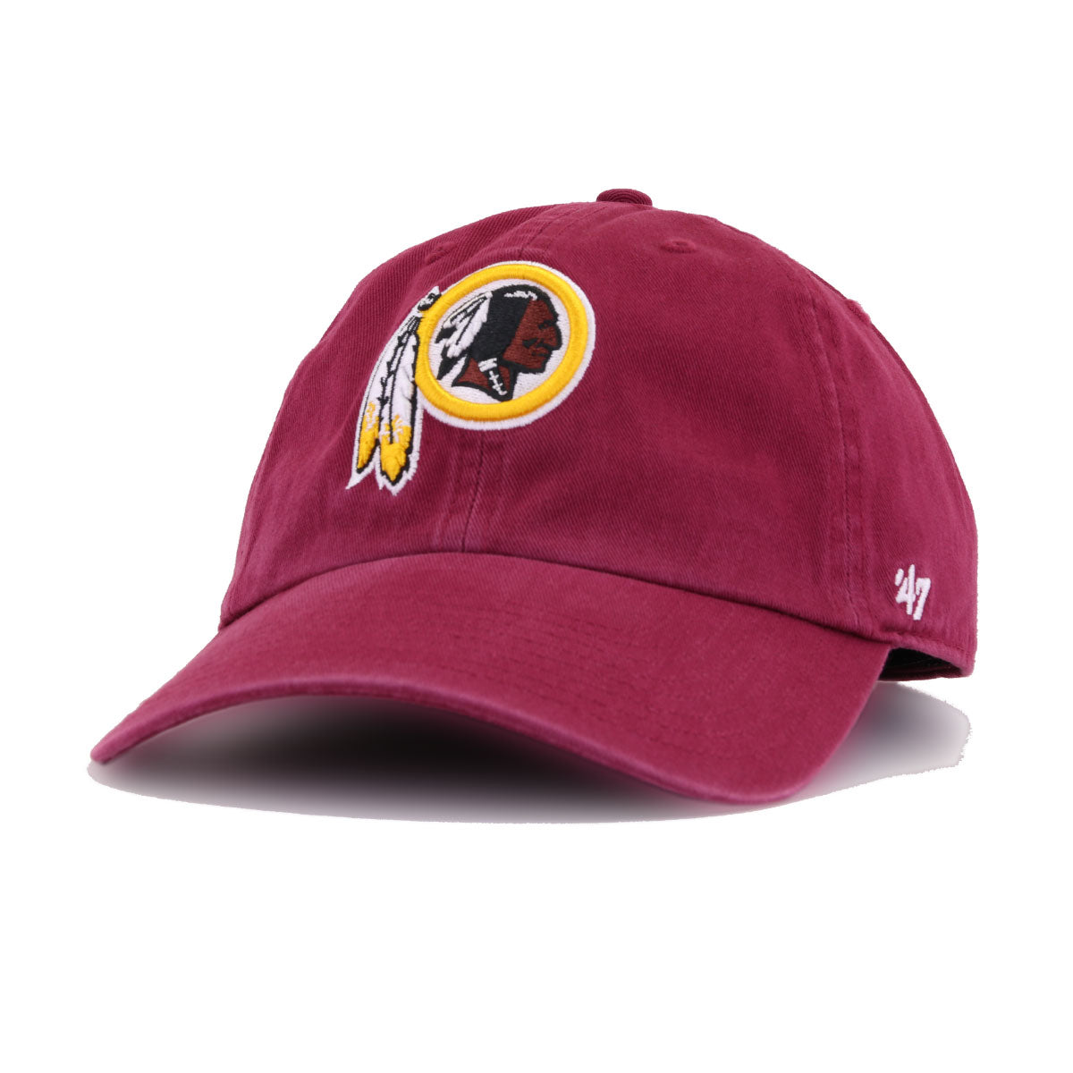 Washington Redskins Cardinal Red 47 Brand Clean Up Dad Hat