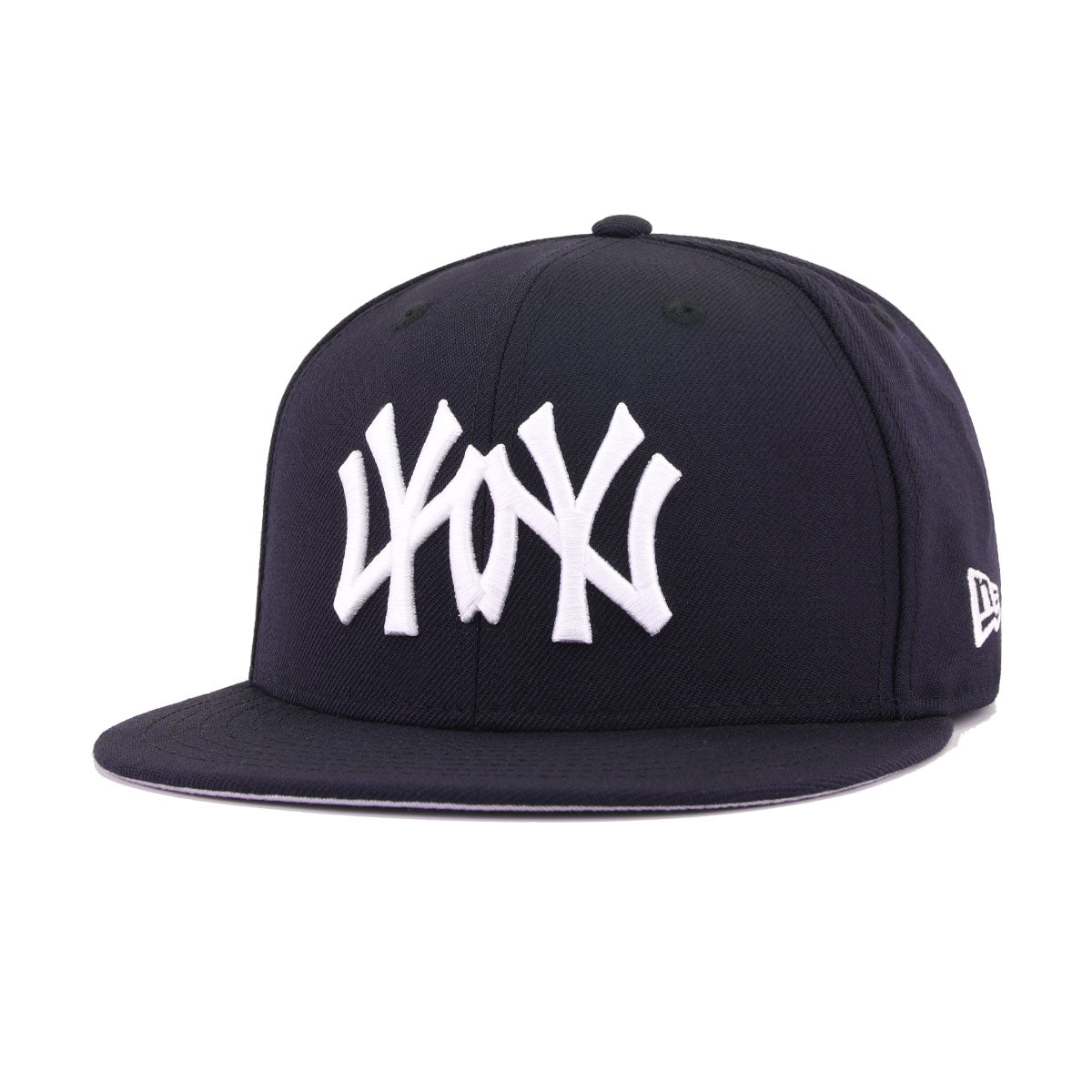 New York Yankees Navy Mirrored Logo New Era 59Fifty Fitted