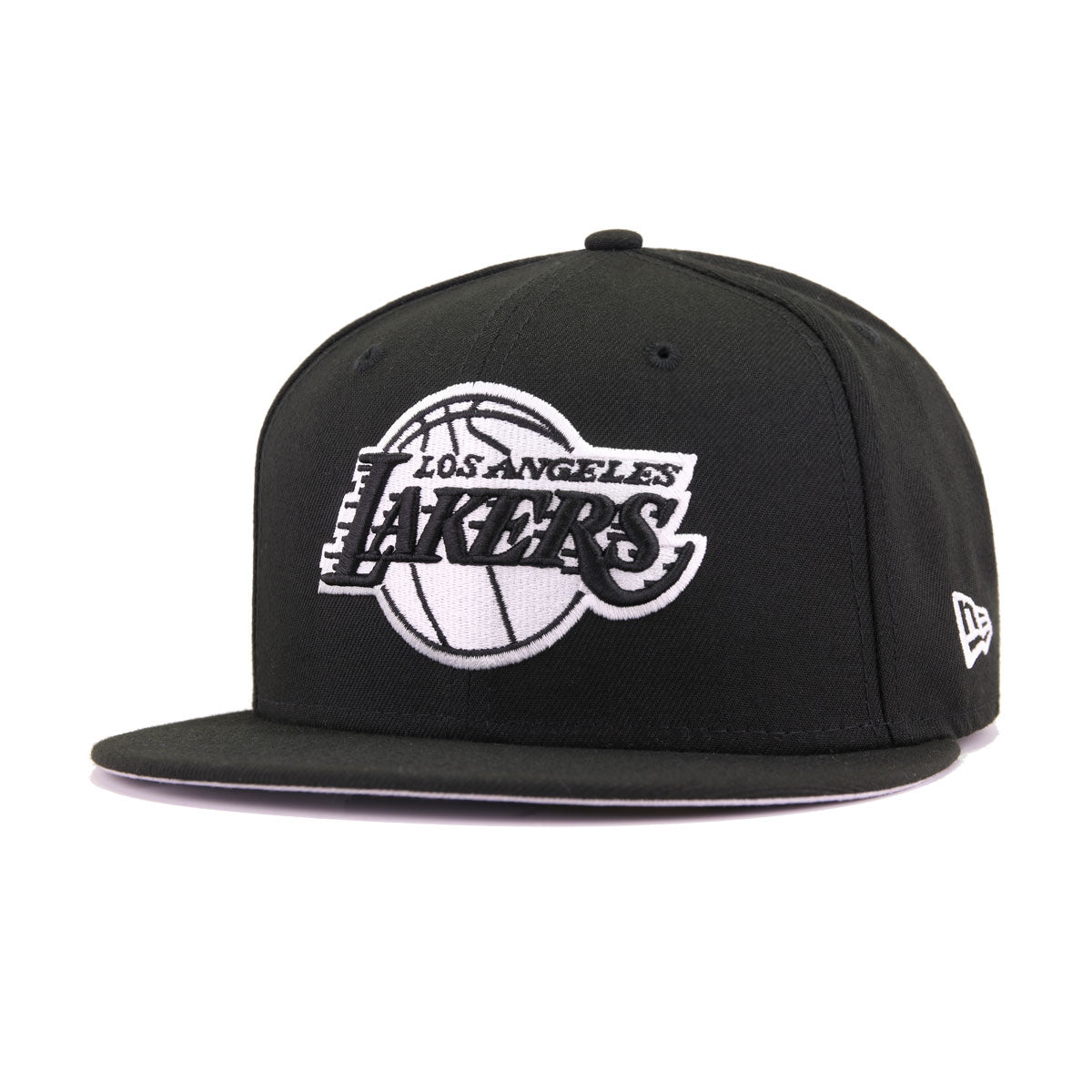 Los Angeles Lakers Black White New Era 59Fifty Fitted 54db0a5280b0