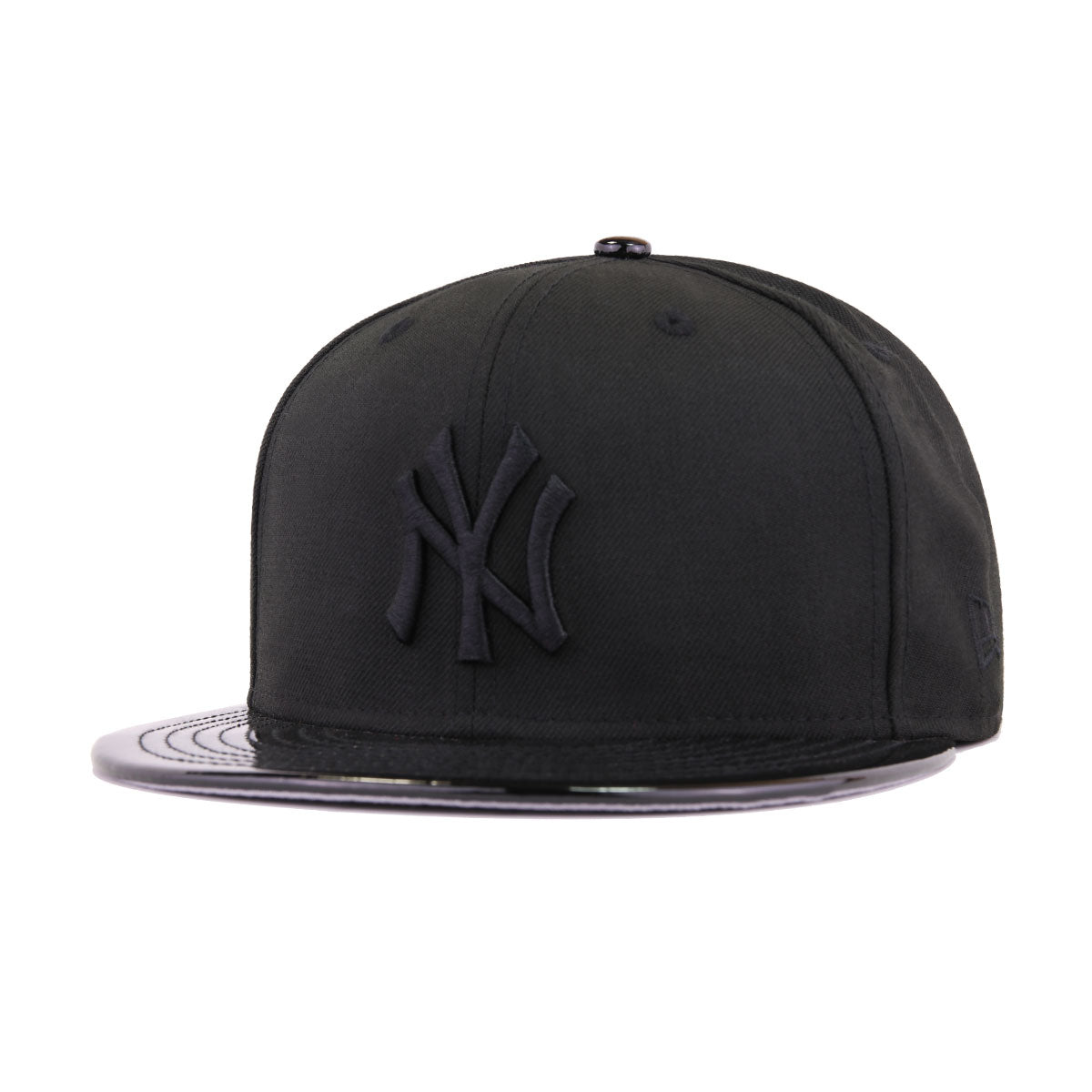 New York Yankees Black Black Patent Leather New Era 59Fifty Fitted