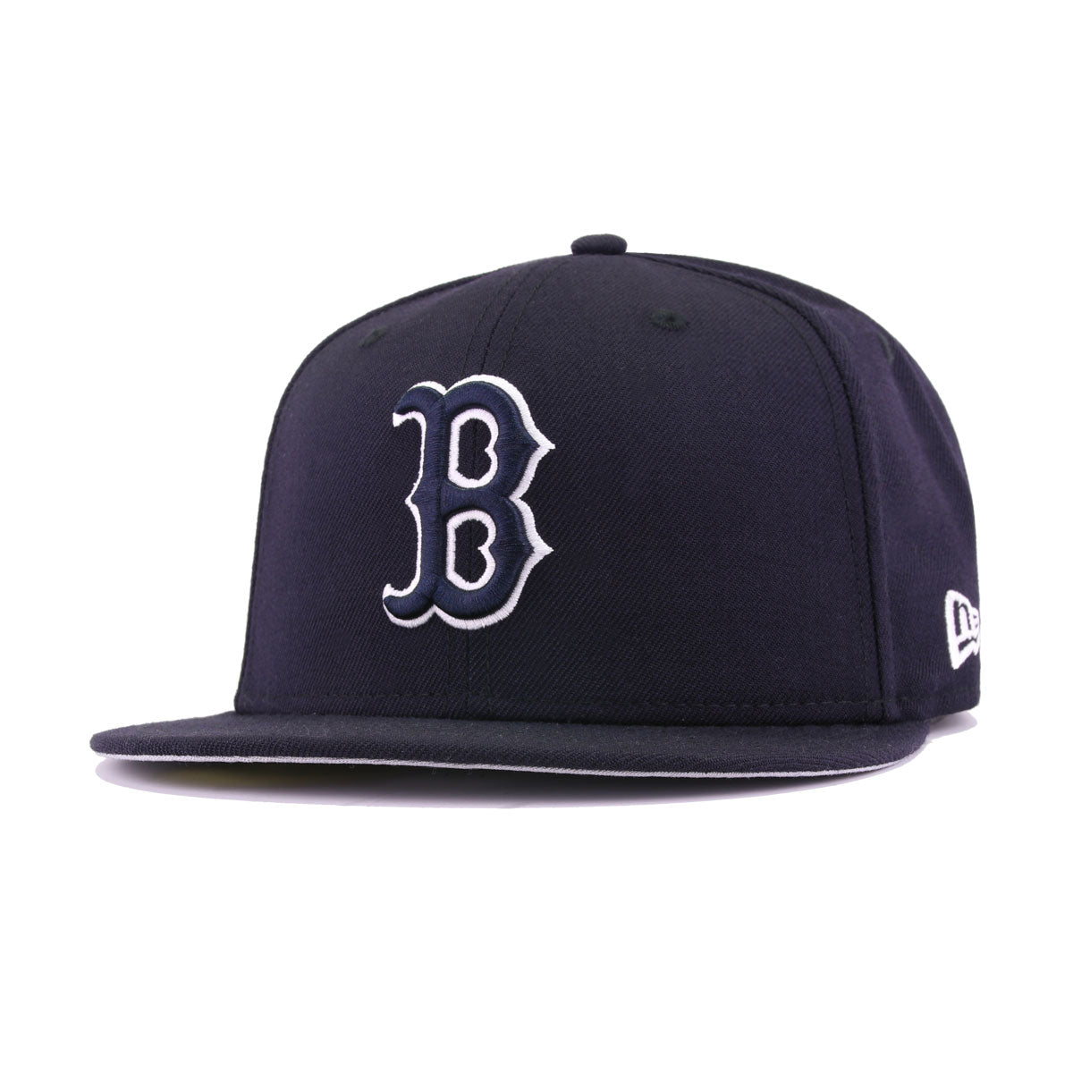 Boston Red Sox Navy White New Era 59Fifty Fitted