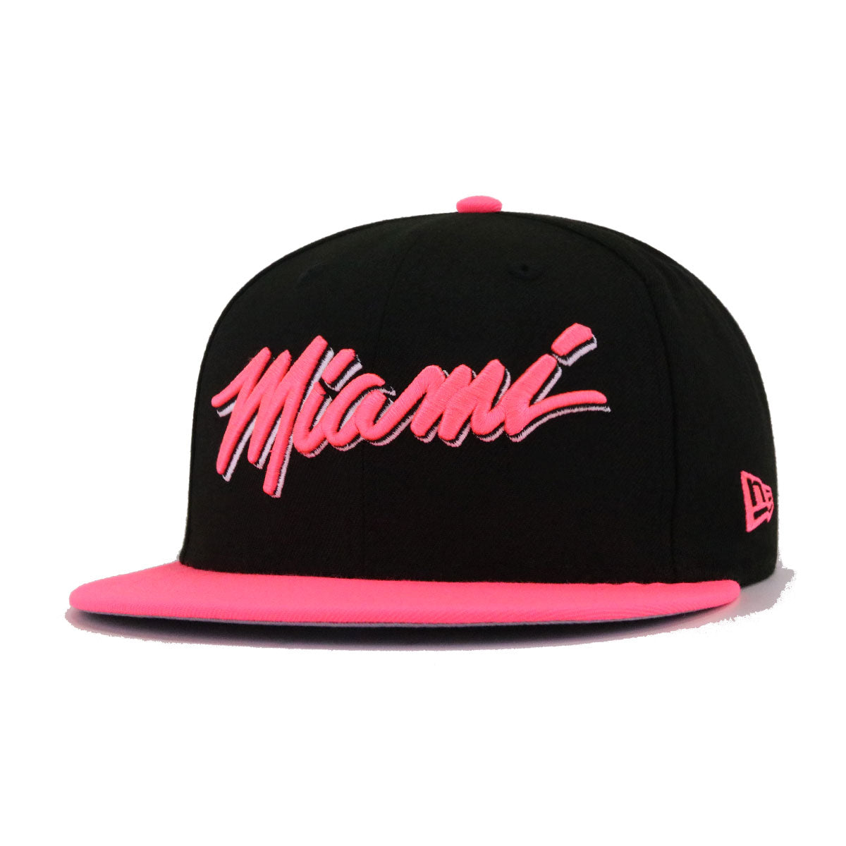 Miami Heat Black Pink Glow New Era 9Fifty Snapback