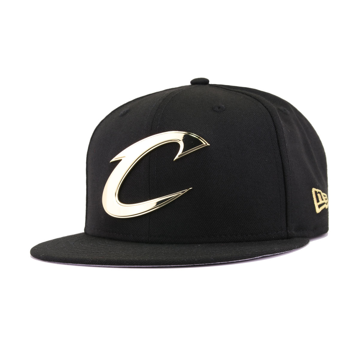 c2767be2da4c9 Cleveland Cavaliers Black Gold Metal Badge 2016 NBA Finals Champion New Era  9Fifty Snapback