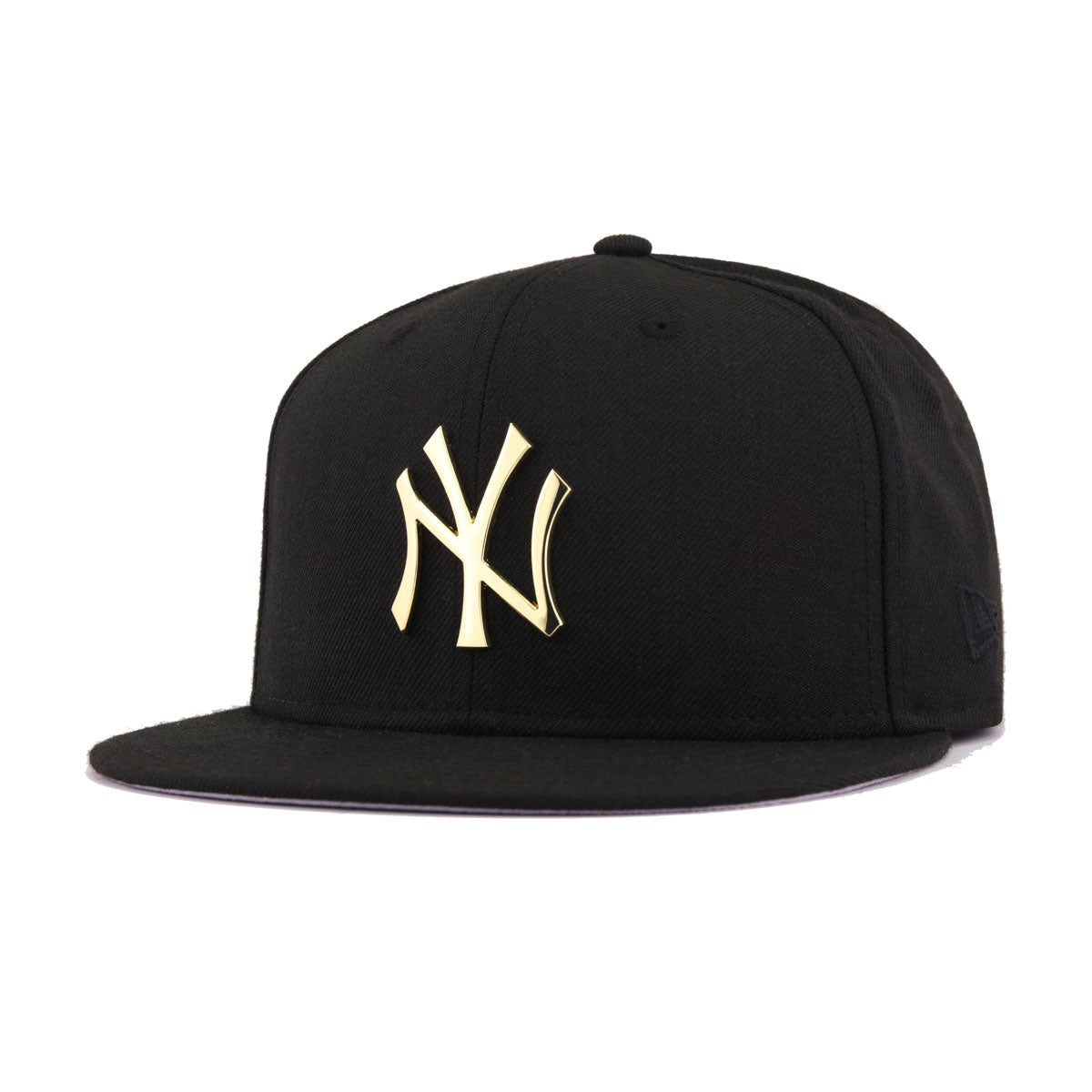 New York Yankees Black Gold Metal Badge 100th Anniversary New Era 59Fifty  Fitted 798ad5343768