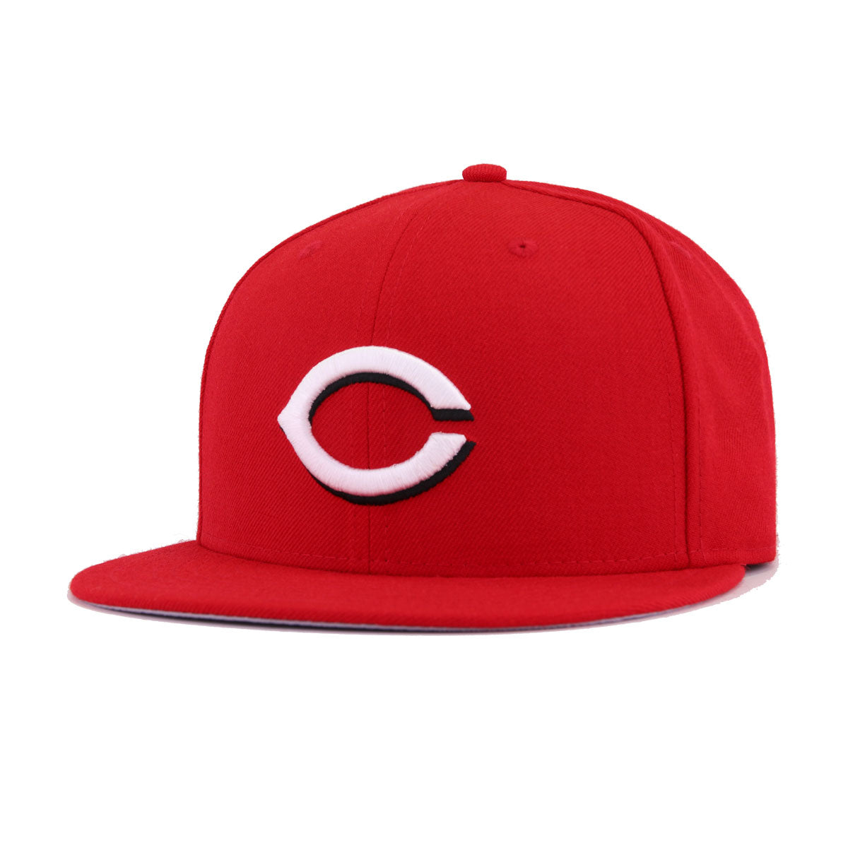 252bd3a7c440d Cincinnati Reds Scarlet White New Era 59Fifty Fitted