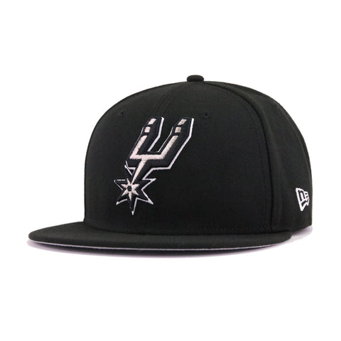 83ed6b838f1 San Antonio Spurs Black New Era 9Fifty Snapback