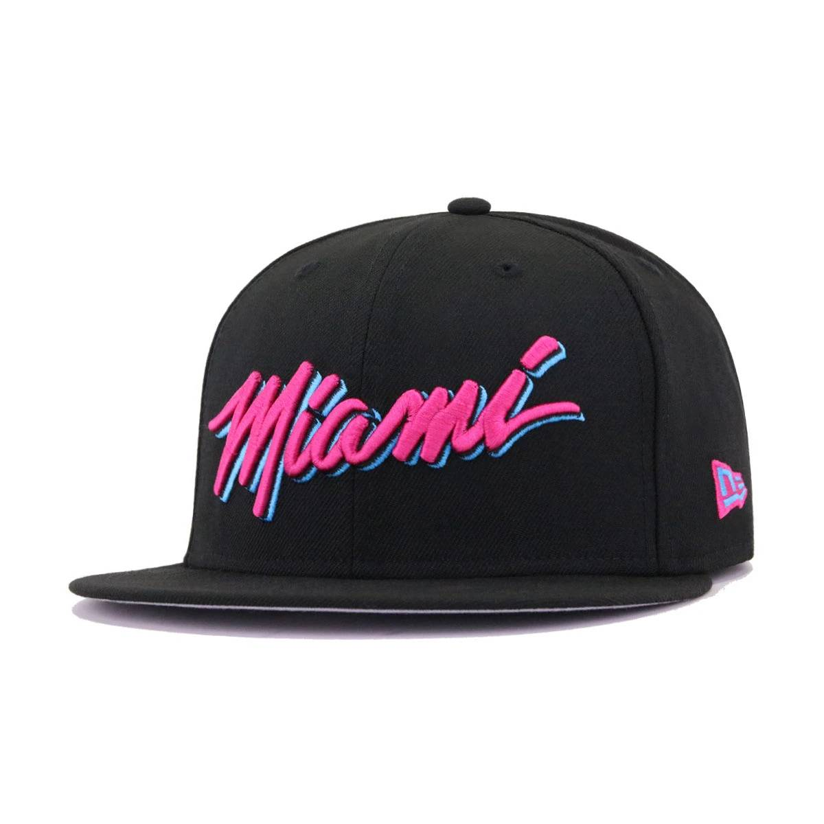Miami Heat Black Beet Root Purple City Series New Era 59Fifty Fitted