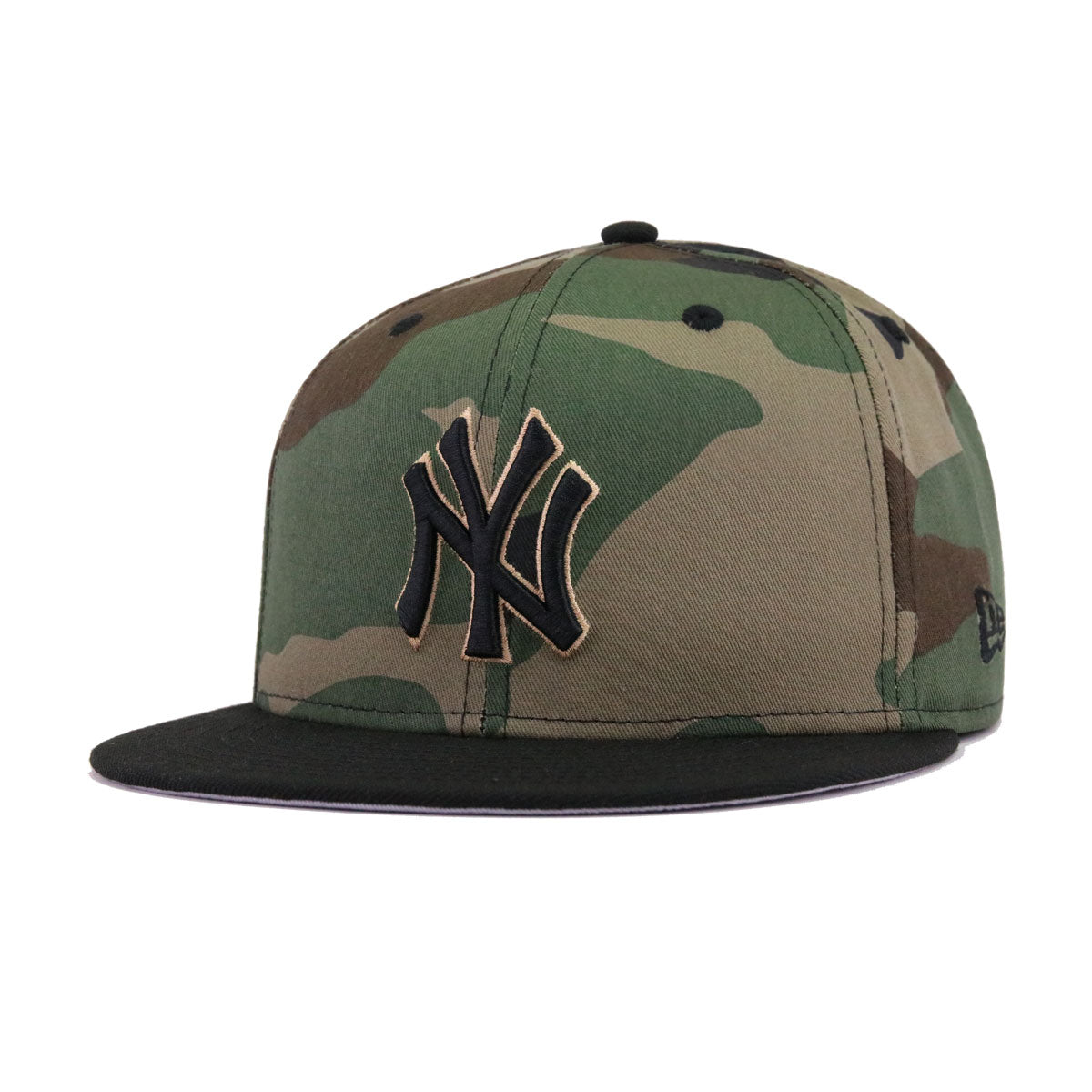 9596410555c New York Yankees Woodland Camouflage Black 100th Annivesary New Era 9Fifty  Snapback