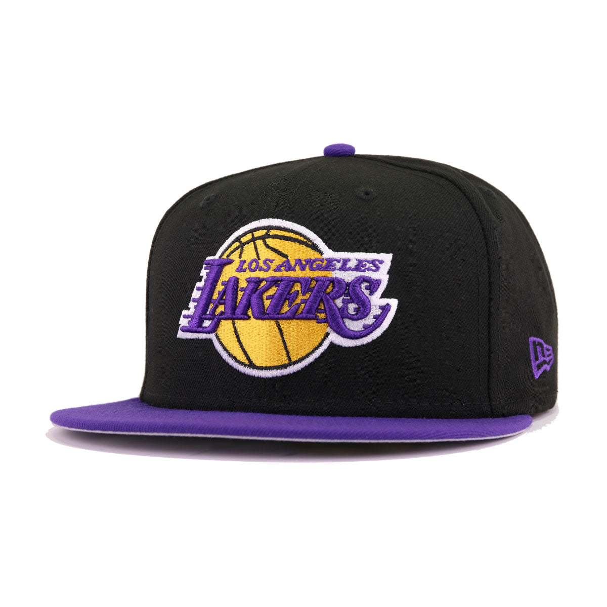Los Angeles Lakers Black Deep Purple New Era 59Fifty Fitted