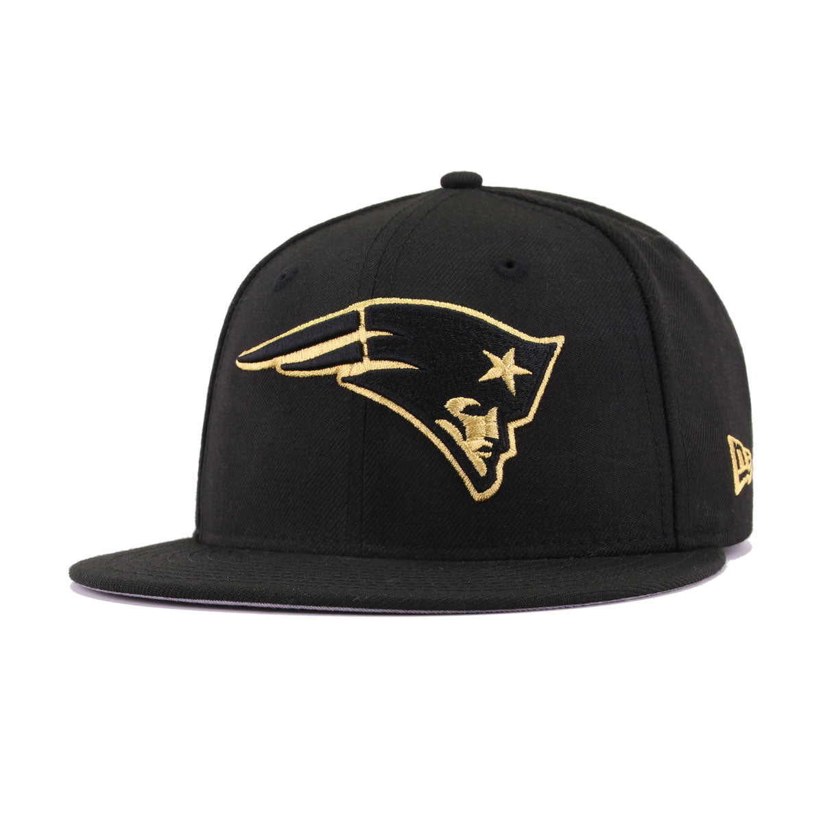 New England Patriots Black Metallic Gold New Era 59Fifty Fitted 206a8333e93