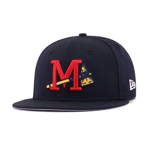 Mississippi Braves Navy New Era 59Fifty Fitted