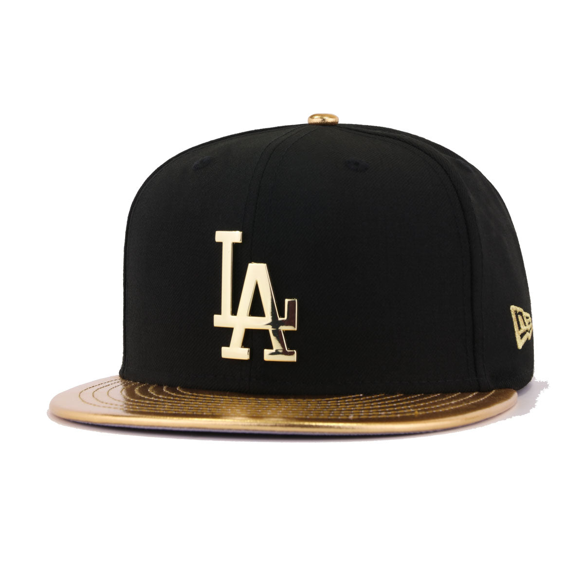 Los Angeles Dodgers Metallic Gold /& Silver LA New Era 59FIFTY fitted//hat//cap