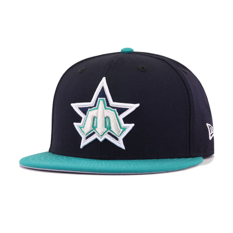 Seattle Mariners Navy Northwest Green Trident New Era 59Fifty Fitted