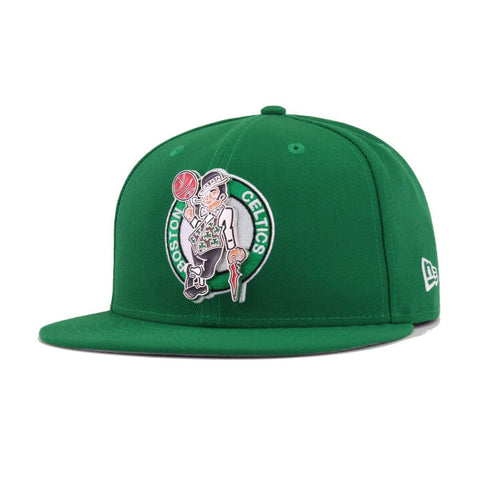1ef808cb266b9 Boston Celtics Kelly Green Metal and Thread New Era 59Fifty Fitted