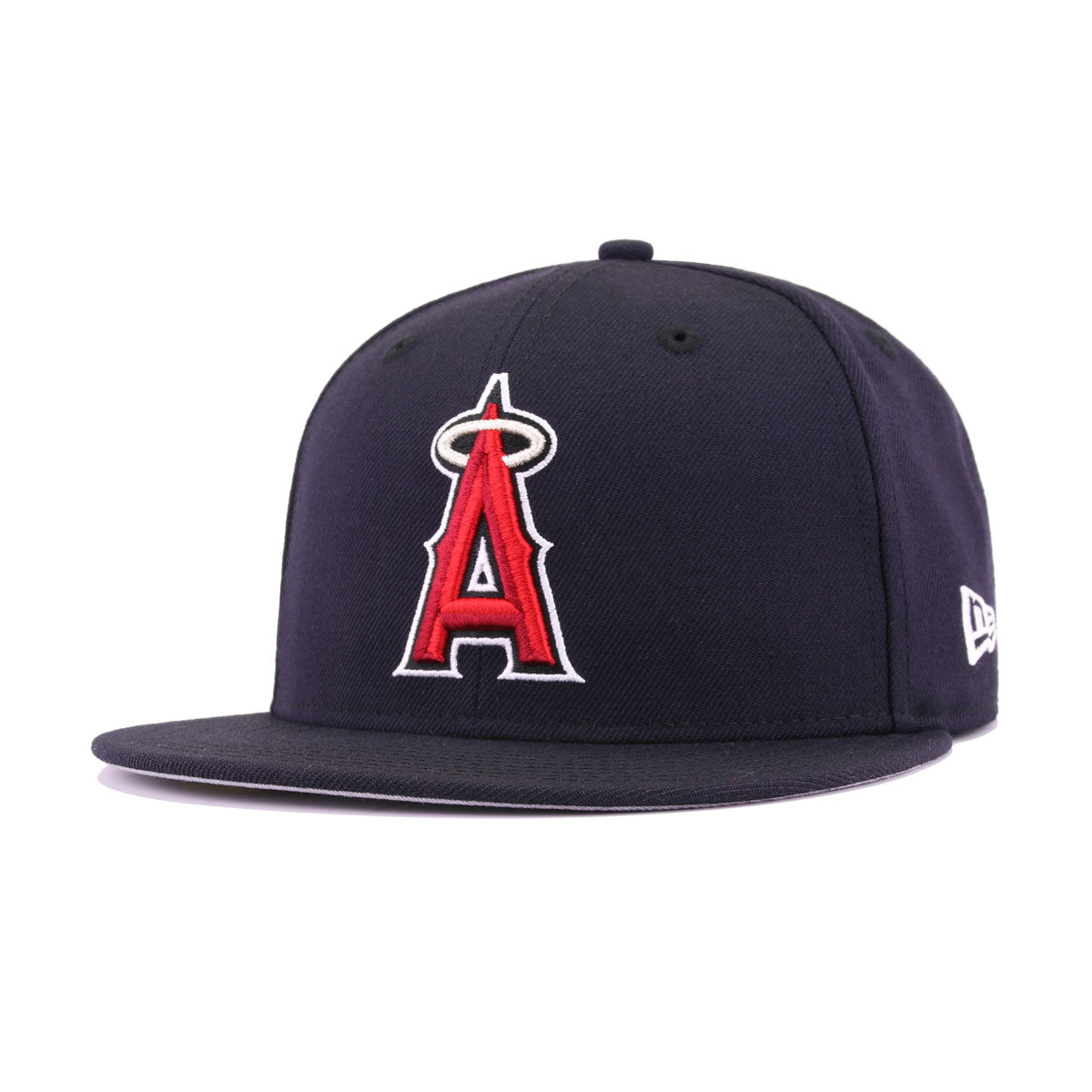 fdaae05f14cde5 Los Angeles Angels Navy Scarlet Metallic Silver New Era 59Fifty Fitted