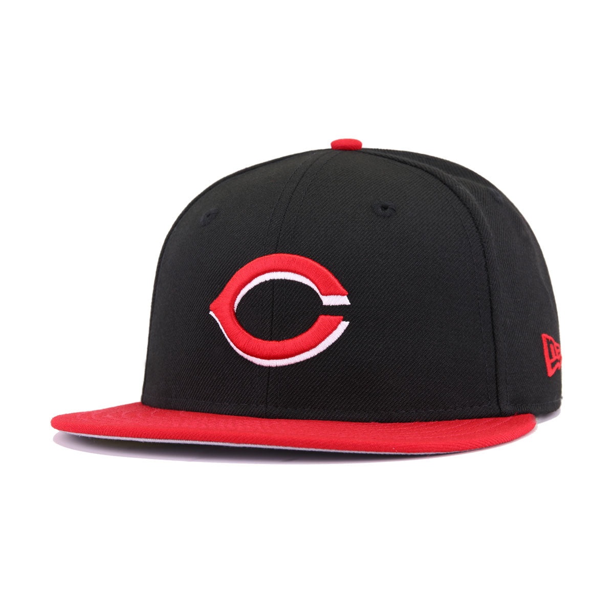 big sale 25990 30d25 Cincinnati Reds Black Scarlet 1990 World Series Cooperstown New Era 59Fifty  Fitted