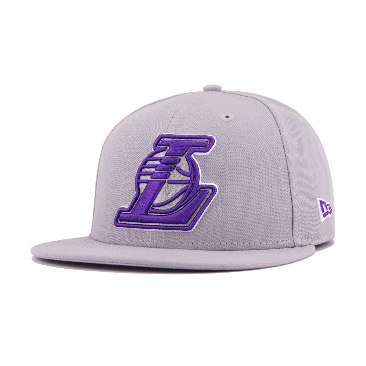 Los Angeles Lakers Grey Deep Purple New Era 9Fifty Snapback