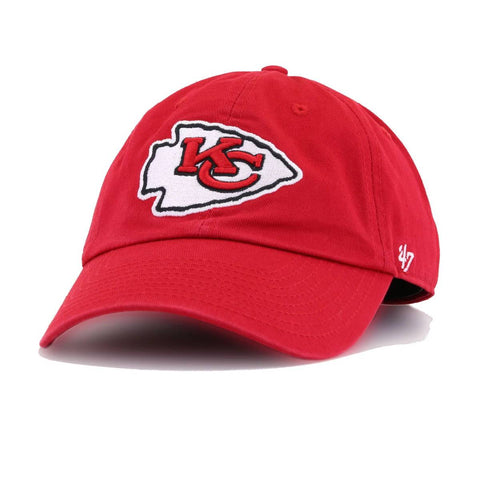 Kansas City Chiefs Front Door Red 47 Brand Clean Up Dad Hat