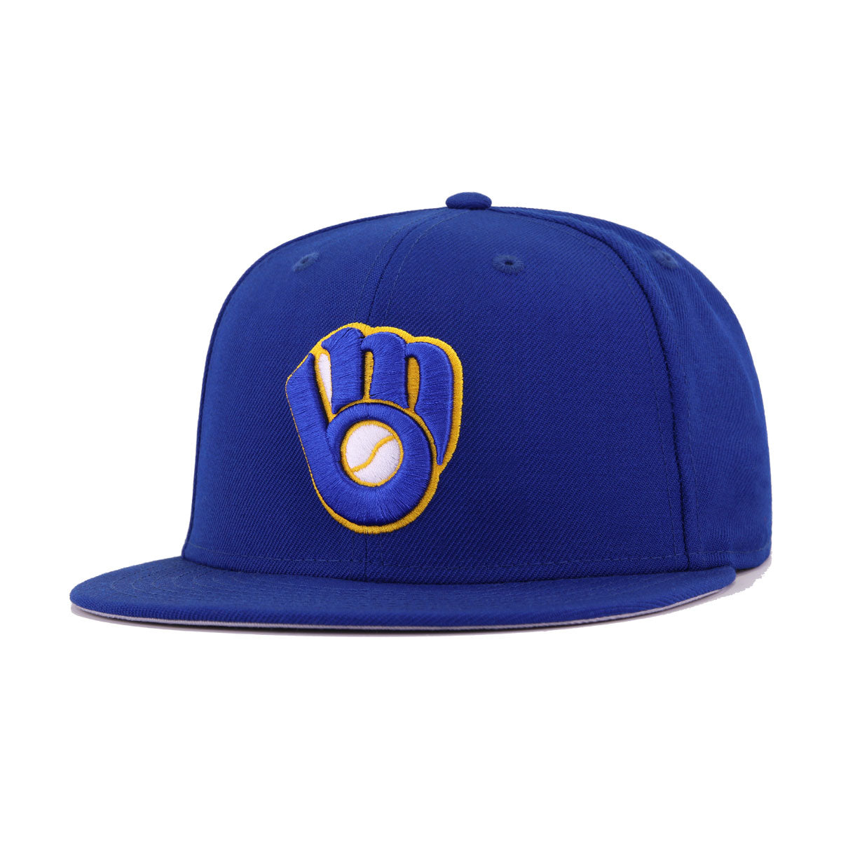 Milwaukee Brewers Light Royal Blue Cooperstown New Era 59Fifty Fitted