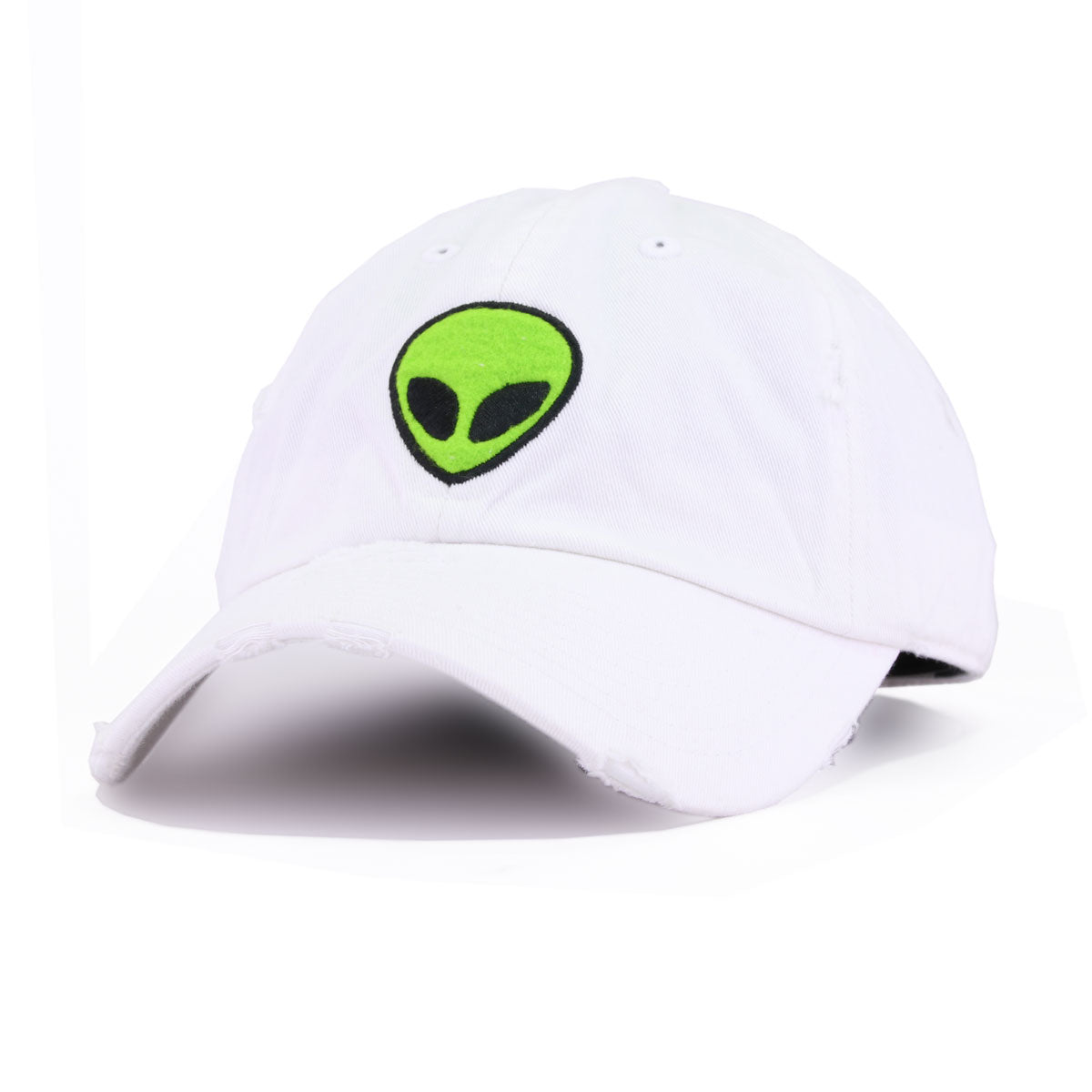 Distressed Alien White KBEthos Vintage Dad Hat