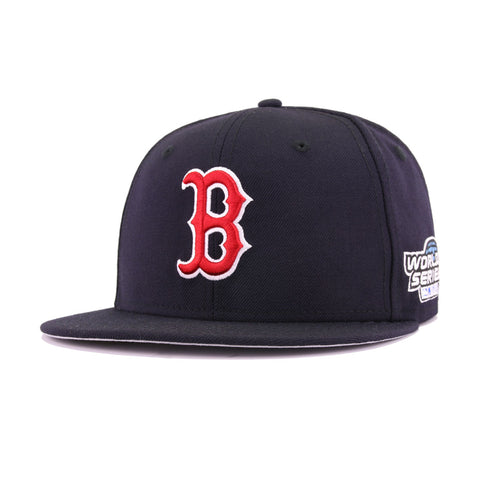 Boston Red Sox Navy 2004 World Series Cooperstown New Era 59Fifty Fitted