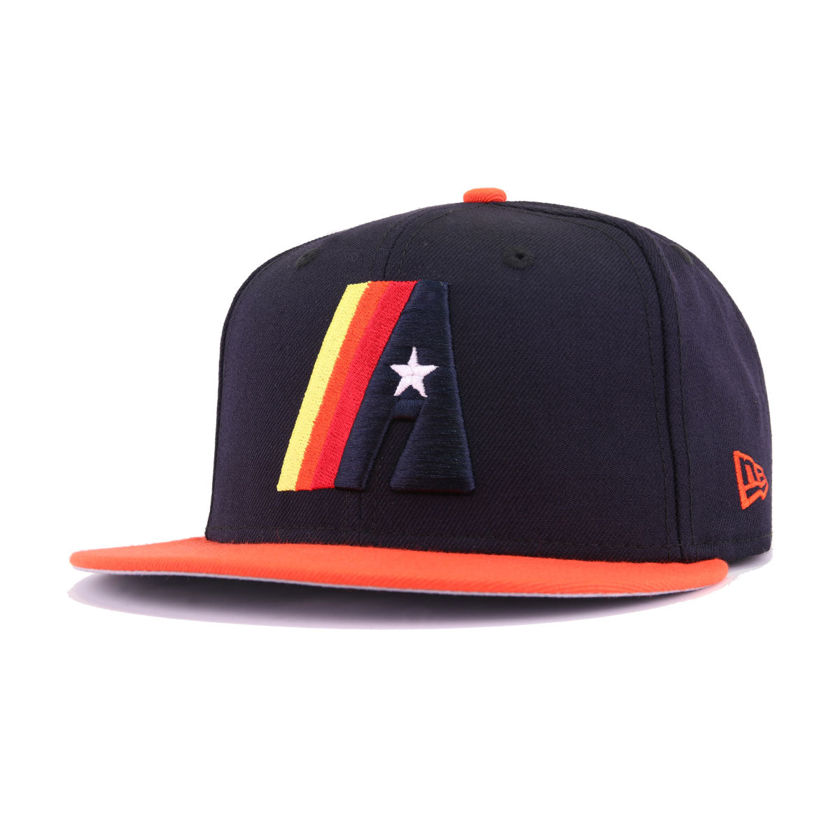 121aa1b7ac1 Houston Astros Navy Orangeade Retro New Era 9Fifty Snapback – Hat Heaven