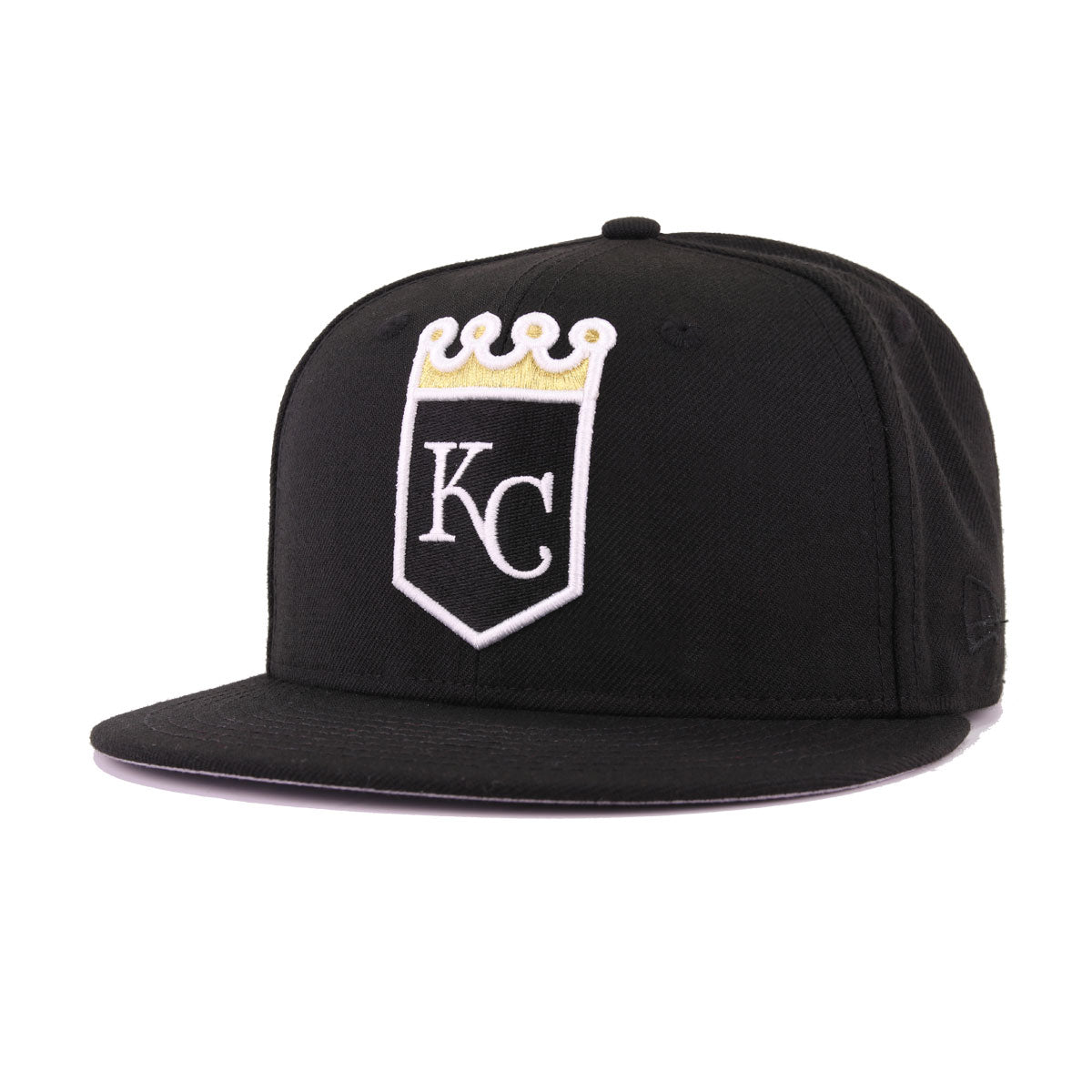 Kansas City Royals Black Metallic Gold New Era 59Fifty Fitted