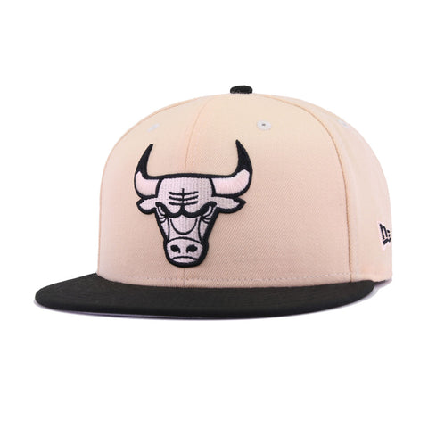 5c8a8f00f62 Chicago Bulls Mango Mocha Black New Era 9Fifty Snapback