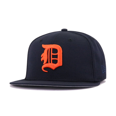 Detroit Tigers Navy Fat D New Era 59Fifty Fitted