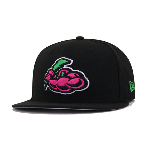 Trenton Thunder Black Beet Root Purple Apple Green New Era 59Fifty Fitted