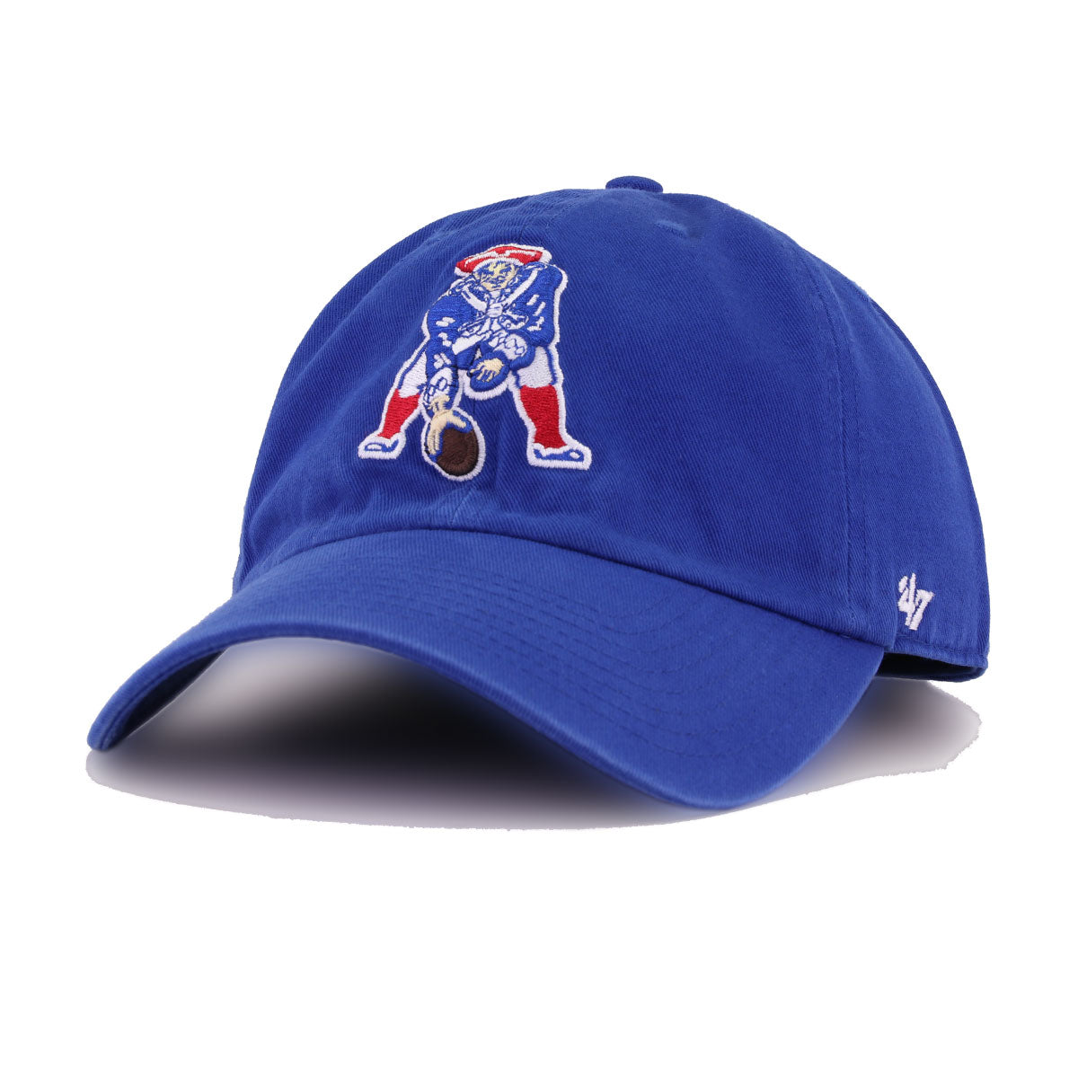 New England Patriots Legacy Light Royal Blue 47 Brand Clean Up Dad Hat